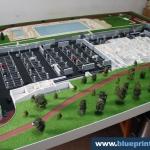 Centro deportivo maqueta de proyecto