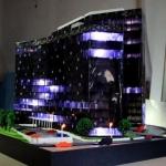 Maqueta Edificio iluminados con leds