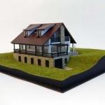 Maqueta de casa de piedra