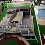 Maqueta de centro deportivo