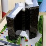 Maqueta dos edificios de oficinas