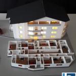 Maqueta residencial de viviendas