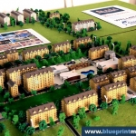 maqueta arquitectonica conjunto residencial