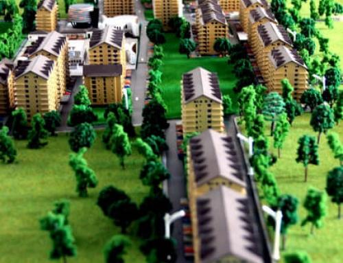 Maquetas de edificios – Conjunto residencial