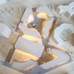 maqueta de arquitectura edificios oficinas
