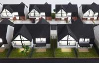 maqueta de casas residenciales