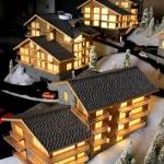 maquetas de casas madera y piedra
