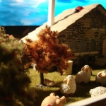 modelo casa de piedra
