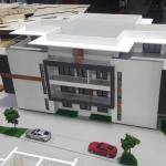 Edificio Maqueta de detalle