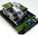 Maqueta De Arquitectura Casa Ecologica