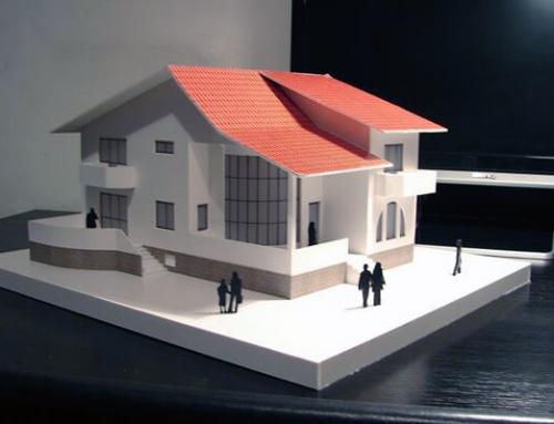 Maqueta de residencia unifamiliar