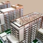 Maqueta del conjunto de viviendas