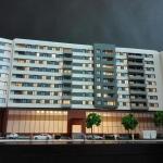 Maqueta promocion viviendas