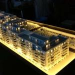 Maqueta de arquitectura residencial