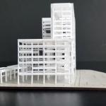 maqueta conceptual edificio de oficinas