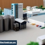 maqueta estructura de fabrica