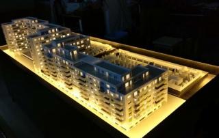 maqueta residencia promociones inmobiliarias