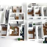Maqueta Piso con Apartamentos
