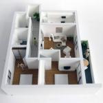 Maquetas apartamento Inmobiliarias