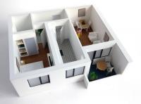 Maqueta de promocion para viviendas