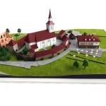 maquetas iglesia fortificada