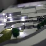 Maqueta arquitectura iluminada