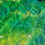 Macheta Topografica zona Montana