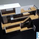 maqueta casas modernas