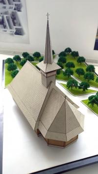 maqueta iglesia escala 1:50