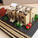 Maqueta casa con techos desmontables