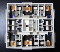 Maqueta de detalle apartamentos