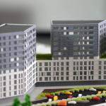 Maqueta bloque viviendas