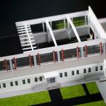 maqueta arquitectonica salon deportes