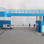 maqueta arquitectura industrial