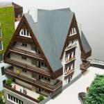 maqueta 3D de hotel
