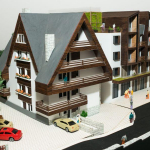 maqueta de arquitectura hotel